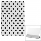 Polka Dot Flip-Open PU Leather Case w/ Auto Sleep / Stand for Xiaomi MIUI Mi Pad - White + Black