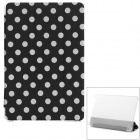 Polka Dot Flip-Open PU Leather Case w/ Auto Sleep / Stand for Xiaomi MIUI Mi Pad - Black + White
