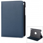 36' Degree Rotary Protective Flip Open PU Case w/ Stand for 7.85'' Mi Pad Xiaomi - Deep blue