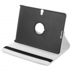 360' Rotary Stylish Flip Open PU Case w/ Stand for 10.5'' Samsung Galaxy Tab S T800 - White