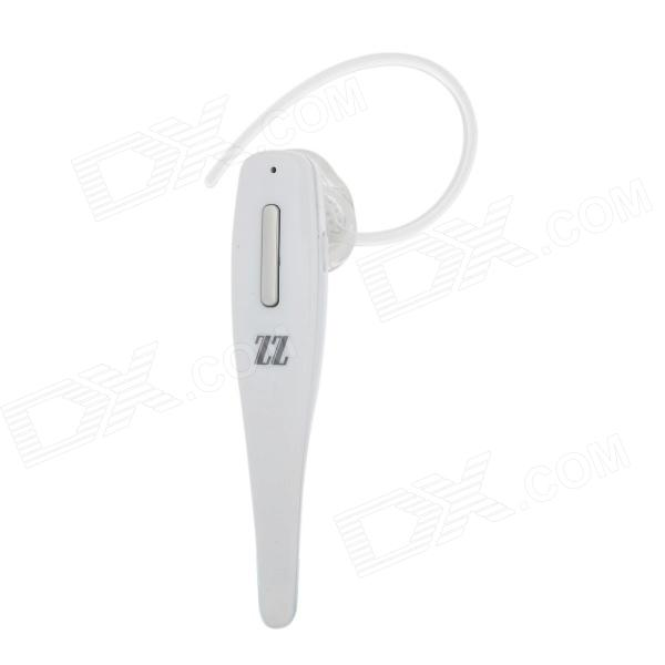 ZZ LE03 Bluetooth V4.0 Earhook Headset w/ Mic. / Voice Dial / Answer - White + Silver