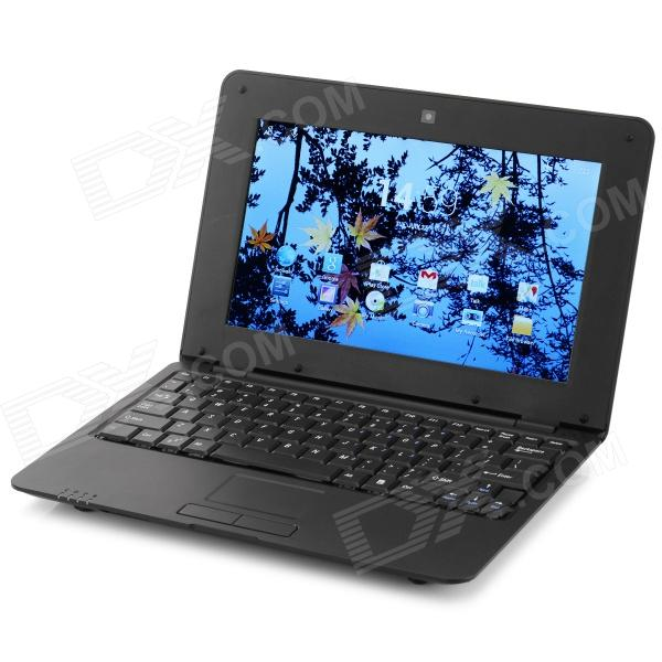 10.1 TFT Dual-Core Android 4.2 Netbook w/ 1GB RAM, 8GB ROM, Wi-Fi, Camera, SD - Black