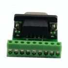 HF- 9Pin 3.81 Male Block Terminal DB9 Connectors Module - Green