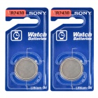 SONY 2430 3V Li-ion CR2034 Cell Button Batteries - Blue + Silver (2 PCS)