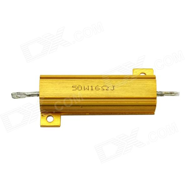 MaiTech 03120350 50W 16ohm Aluminum Alloy Resistor - Golden high quality customized 150 ohm 500w watt power aluminum metal shell case gold resistor