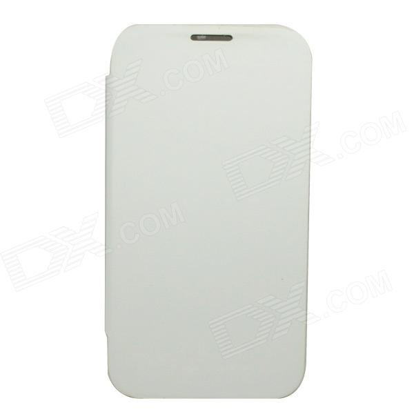 Protection PU ouvrir Flip cuir + boitier housse pour Samsung Galaxy Note 2 - blanc