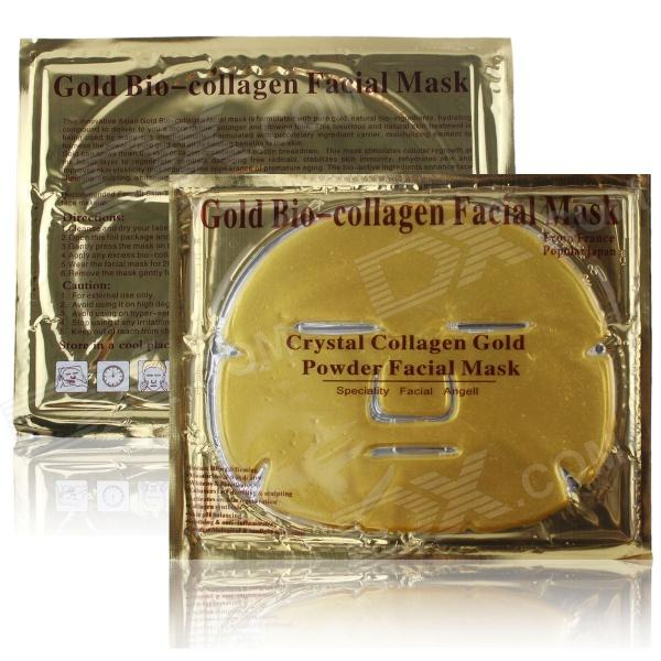 Moisturizing & Anti-aging Crystal Collagen Powder Facial Mask - Golden (10pcs)