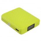 "AIDEIDAI P5021 ""11200mAh"" USB Li-ion Battery Mobile Power Bank w/ LED & 1.1"" LCD- Fluorescent yellow"