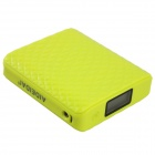 "AIDEIDAI P5021 « 11200mAh » USB Li-ion batterie Mobile Power Bank w / LED & 1.1"" LCD - Fluorescent jaune"