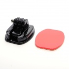 JUSTONE Universal Smooth Surface Mount Stand Kit for Gopro Hero 3 / 3+ / 2 / 1 - Black + Red