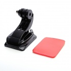 Curved Adhesive Mount w/ J-Shape Fast Assemble Plug for Gopro Hero 4/ 3+ / 3 / 2 / /SJ4000