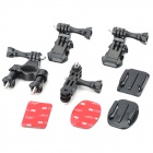 Bike Helmet and Tube Mount Set for Gopor Hero 2 / 3 / 3+ - Black