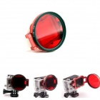 PANNOVO 58mm Underwater Color-Correction Filter Dive Filter w/ Flip Converter for GoPro Hero 3+ -Red