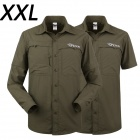 ESDY-623 Men's Outdoor Sports Climbing Detachable Quick-Drying Polyester Shirt - Army Green (XXL)