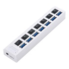 VINA HUB -306 Portable 5.0Gbps USB 3.0 7 Port Hub w/ Switch for Notebook / Laptops / IPAD - White