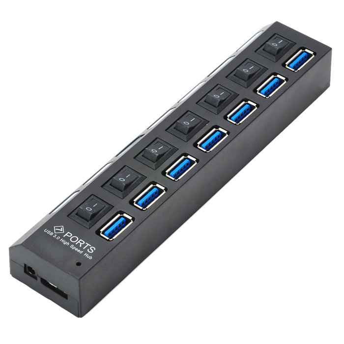 VINA Portable Super Speed 5.0GBPS USB 3.0 HUB With 7 Ports and Switch for PC binful multi 7 ports high speed usb hub 2 0 480mbps hub on off switch portable usb splitter peripherals accessories for computer