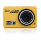 ENKAY Waterproof Wifi Control 120° 5.0 MP 1080P Full HD CMOS Sports Camera - Yellow