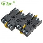 LQ1A1475 PF083A Plastic + Hardware Components Time Relay Socket Base - Black (2 PCS)