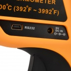 BENETECH GM2200 Infrared Temperature Measuring Thermometer - Orange + Black (1 x 9V)
