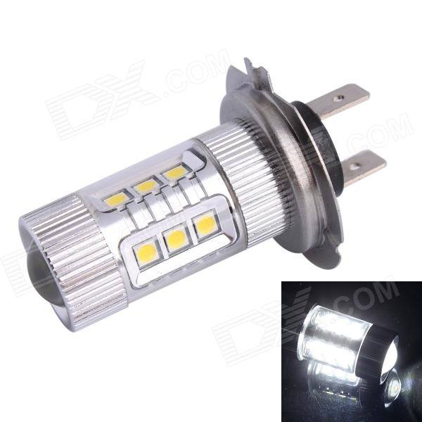 H7 80W 12-SMD LED 600LM 6500K White Light Foglight Headlamp for Car (DC12~24V) wf90053522 highlight 9005 3w 210lm 1 smd led white light car foglight dc 12v