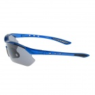 UV400 Protection PC Sports Cycling Sunglasses Goggles - Blue + Grey