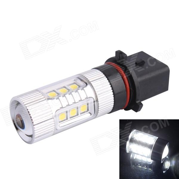P13W 80W 12-SMD LED 600LM 6500K White Light Foglight de phare pour la voiture (DC12 ~ 24V)