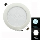 TWP TWP-11 11W 990lm 6500k 55-SMD 2835 LED White Round Floral Panel Light - White (AC 85~265V)