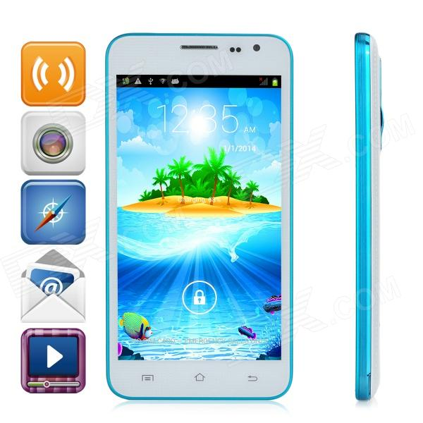 G3 Android 4.2.2 Dual-core WCDMA Bar Phone w/ 5.0 Screen, Wi-Fi and GPS - White + Light Blue color image watermarking using matlab