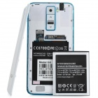 "G3 Android 4.2.2 Dual-core WCDMA Bar Phone w/ 5.0"" Screen, Wi-Fi and GPS - White + Light Blue"