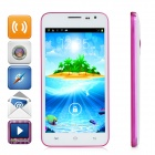"G3 Android 4.2.2 Dual-core WCDMA Bar Phone w/ 5.0"" Screen, Wi-Fi and GPS - White + Deep Pink"