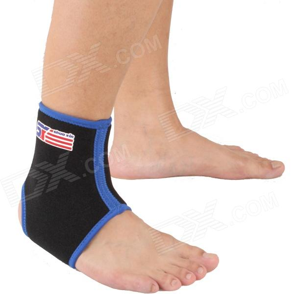 ShuoXin SX860-B Sports Basketball Elastic Ankle Foot Brace Support Wrap - Blue + Black shuoxin sx662 sports basketball elastic ankle foot brace support wrap black