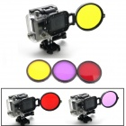 PANNOVO Professional 58mm Underwater Color-Correction Diving Filter Kit w/ Converter for GoPro Hero3