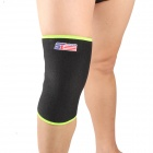 ShuoXin SX861-B Classical Ventilate Sport Knee Guard Protector - Green + Black