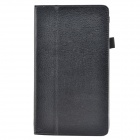 "Lichee Pattern Protective PU Leather Case for Huawei 8"" MediaPad M1 - Black"