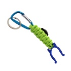 Bracelet Style Outdoor Survival Emergency Rope w/ Compass / Bottle Clip - Green