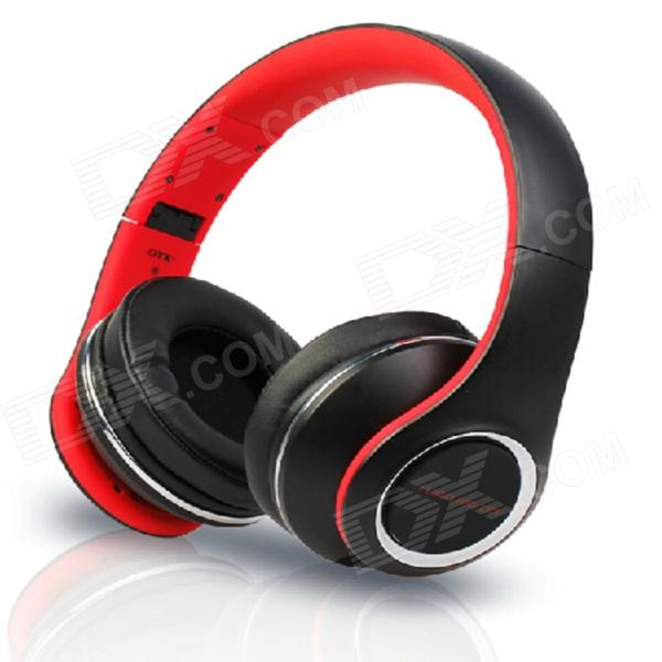 OYK OK-8808 3.5mm Wired Stereo Headband Headphone w/ Microphone - Red + Black audio technica ath ls50is 15119537 внутриканальные наушники red