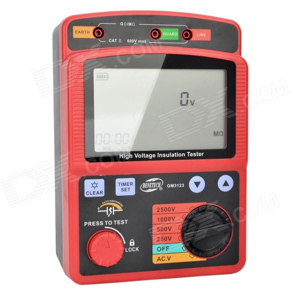 BENETECH GM3123 Digital High Voltage Insulation Resistance Tester Set - Red + Black (8 x LR14) spectral matching of earthquake gm using wavelets and broyden updating