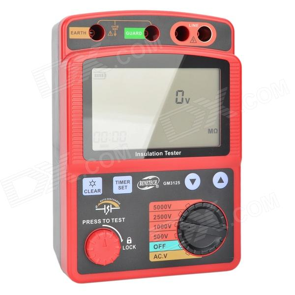 BENETECH GM3125 Digital High Voltage Insulation Resistance Tester Set - Red + Black (8 x LR14) spectral matching of earthquake gm using wavelets and broyden updating