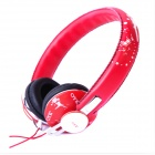 OYK OK-402 DIY Wired Headphone w/ Microphone - Red + Black