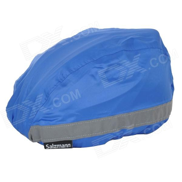 Salzmann 50012 Night Cycling Riding Waterproof Reflective Bike Safety Helmet Cover - Deep Blue