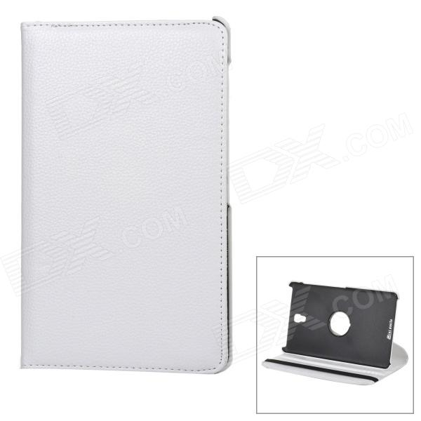 360' Rotary Flip Open PU Leather Case w/ Stand for 8.4'' Samsung Galaxy Tab S T700 / T705C - White
