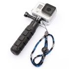 PANNOVO Handheld ABS + Rubber Stabilizer Grip w/ Screw + Strap for Gopro Hero 4/ 3+ / 3 / 2 - Black