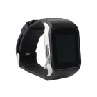 "HI Watch Wearable 1.5"" Touch Screen GSM Watch Phone w/ Bluetooth & Pedometer - Black"