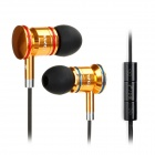 AWEI TS-150vi In-ear Earphone w/ Mic / Volume Adjustment for Samsung - Golden + Black