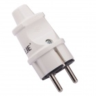 NEJE 16A 15.625W German Long EU Power Plug - White (250V)