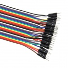 Universal PVC Male to Female + Female to Female DuPont Cables - Multicolored (30cm)
