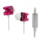 TTPOD T1-Enhanced High Quality 3.5mm Hi-Fi In-Ear Earphone - Purple + Silver + White
