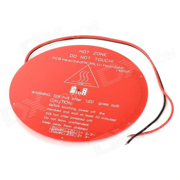 DIY Round Shaped PCB Heated Heat Bed Hot Plate for Delta Rostock 3D Printer - Red large buid size newest kossel k280 delta 3d printer 24v 400w power with auto level and heat bed two rolls of filament gift