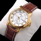 Buy mce Men's Fashion PU Band Analog Mechanical Wrist Watch - Golden + White