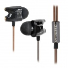 TTPod T1-Enhanced High Quality 3,5 mm Hallo-Fi-In-Ear-Ohrhörer - Schwarz + Bronze